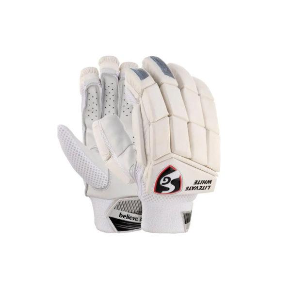 SG Cricket Litevate White Batting Gloves