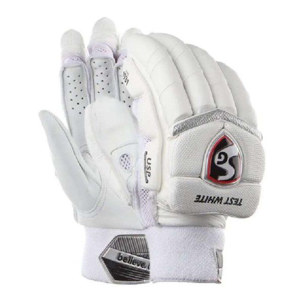 SG Cricket Test White Batting Gloves